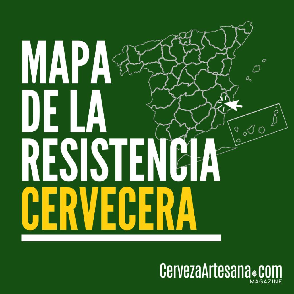 Mapa de la resistencia de la cerveza artesana