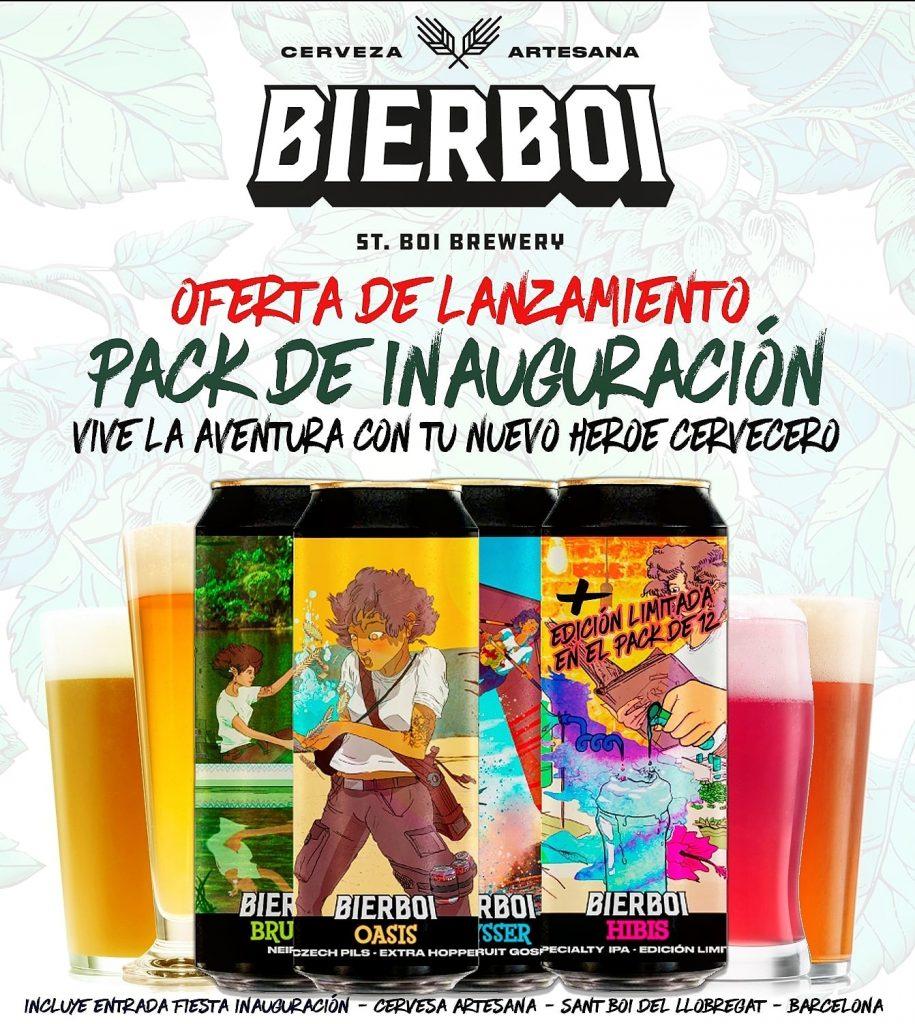 Pack inauguración cerveza artesana Bierboi