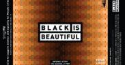 Etiqueta de la cerveza artesana Black is Beautiful