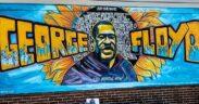 Mural en recuerdo a George Floyd