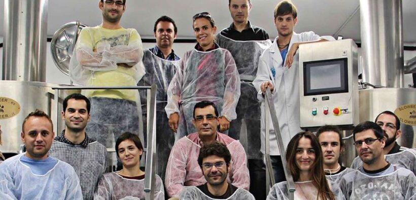 Alumnos del curso del Instituto de la Cerveza Artesana
