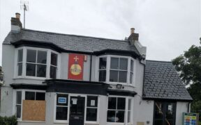 Imagen del exterior del pub historico en Inglaterra